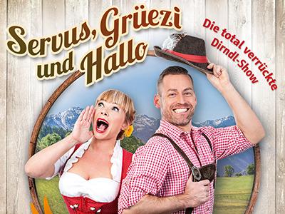 Servus, Grüezi und Hallo Motiv